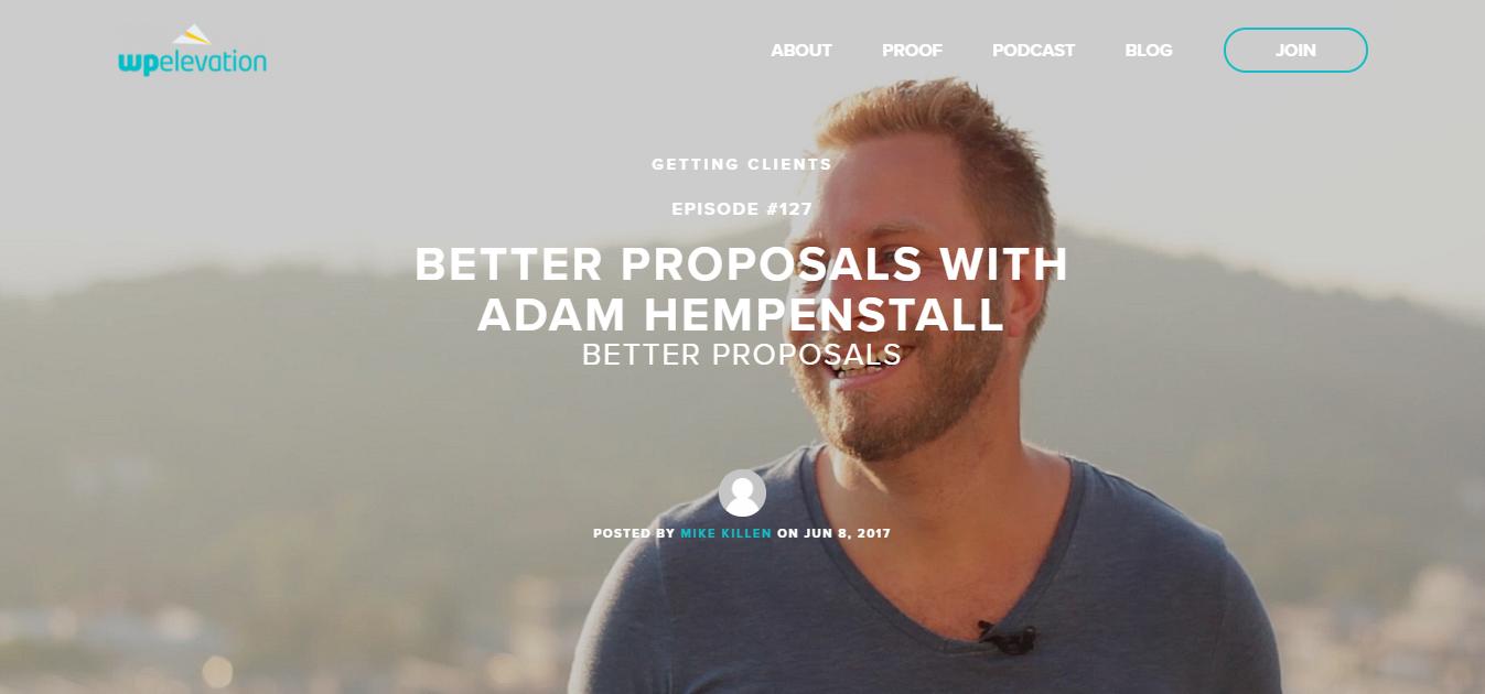 wp elevation podcast adam hempenstall