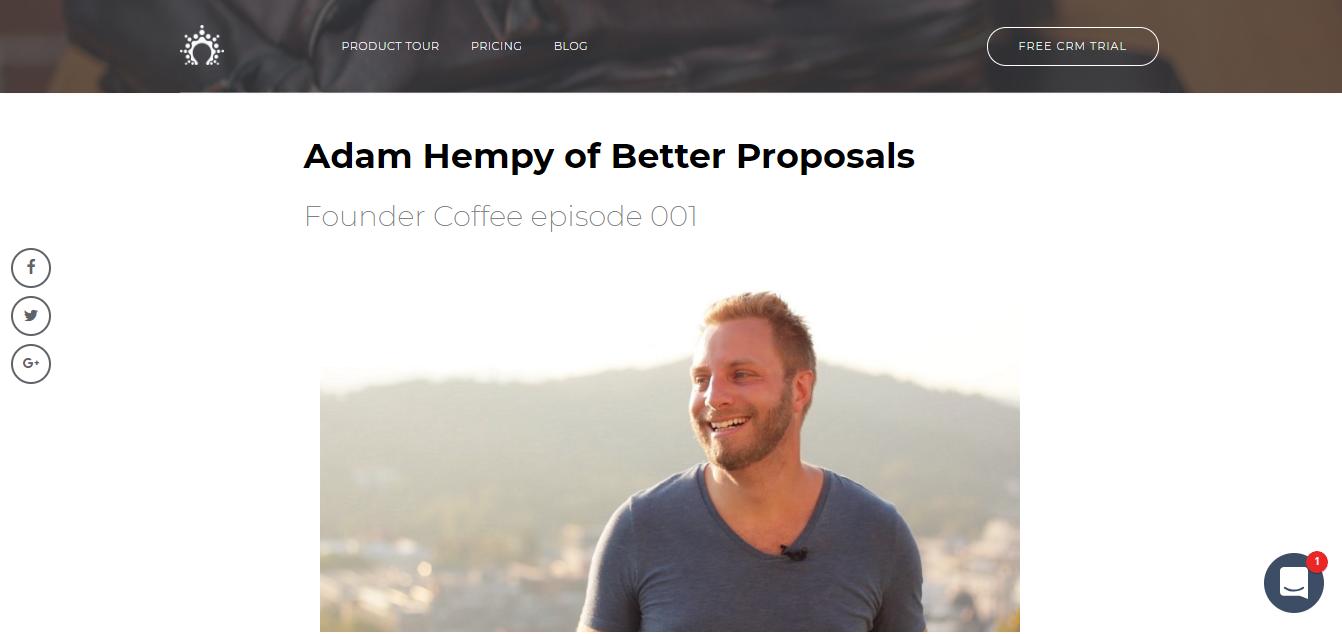 salesflare founder coffee adam hempenstall