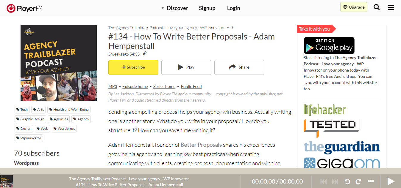 agency trailblazer podcast adam hempenstall