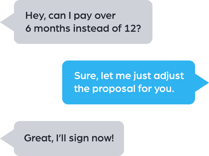 proposal live chat integration