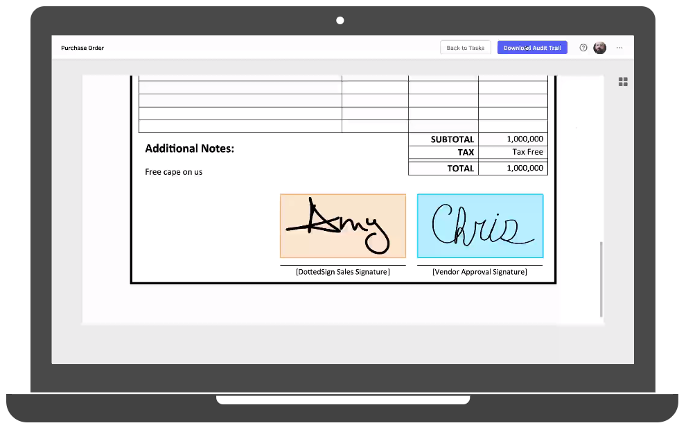 Docusign alternative signature