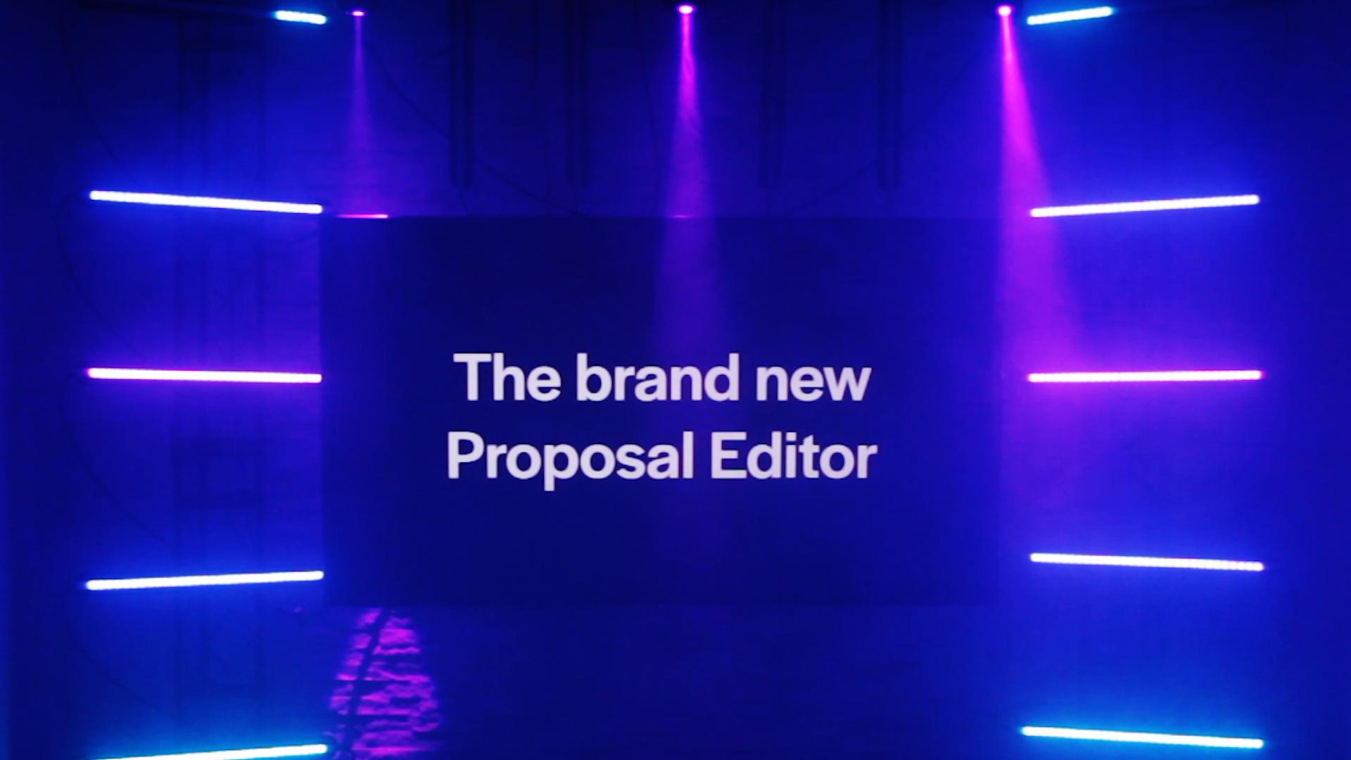 Better Proposals Editor