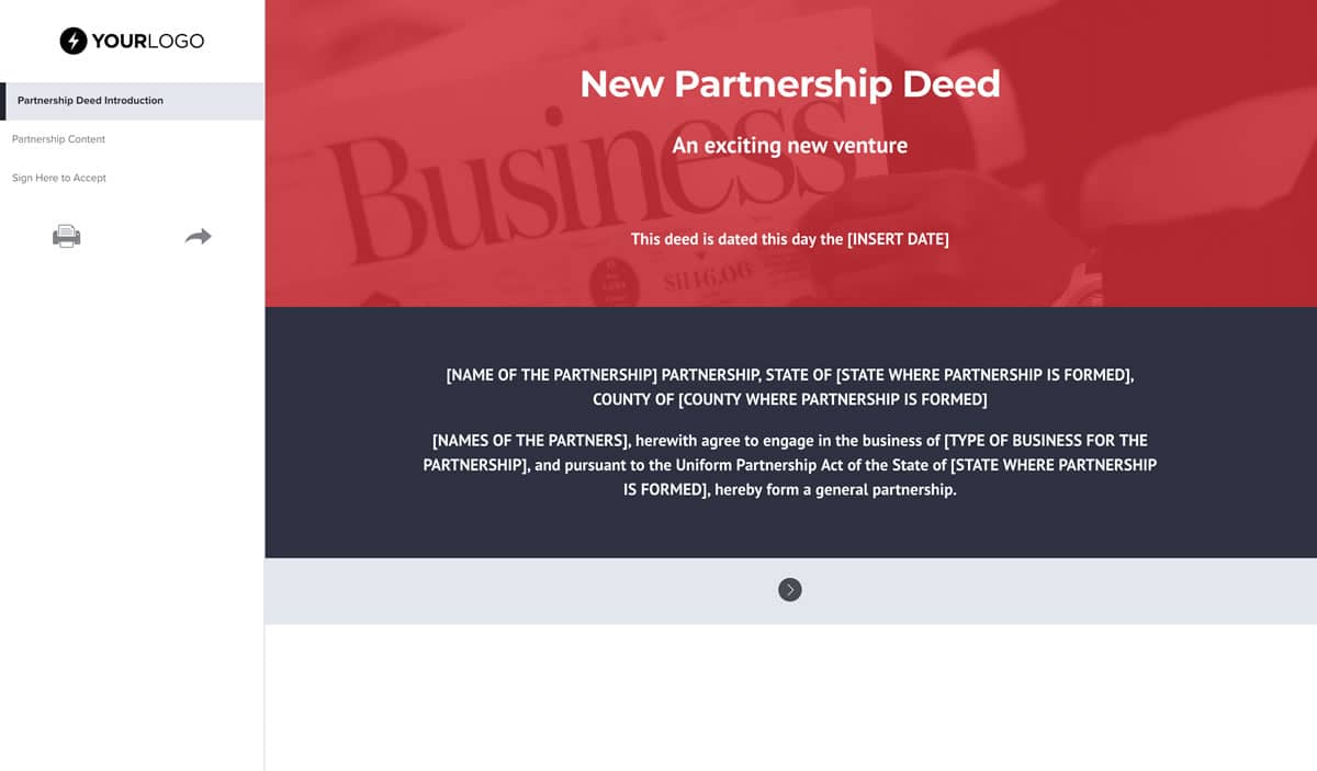 Free Partnership Contract Template Better Proposals