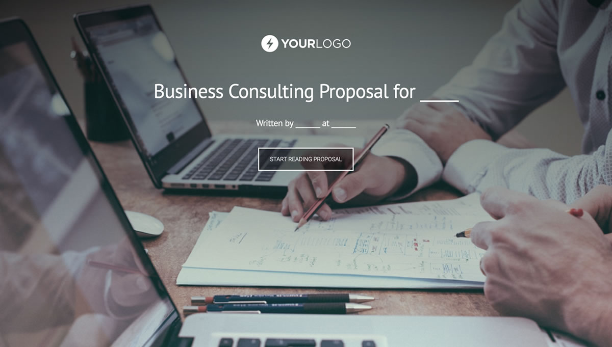 Business consulting proposal template better proposals view template accmission Image collections