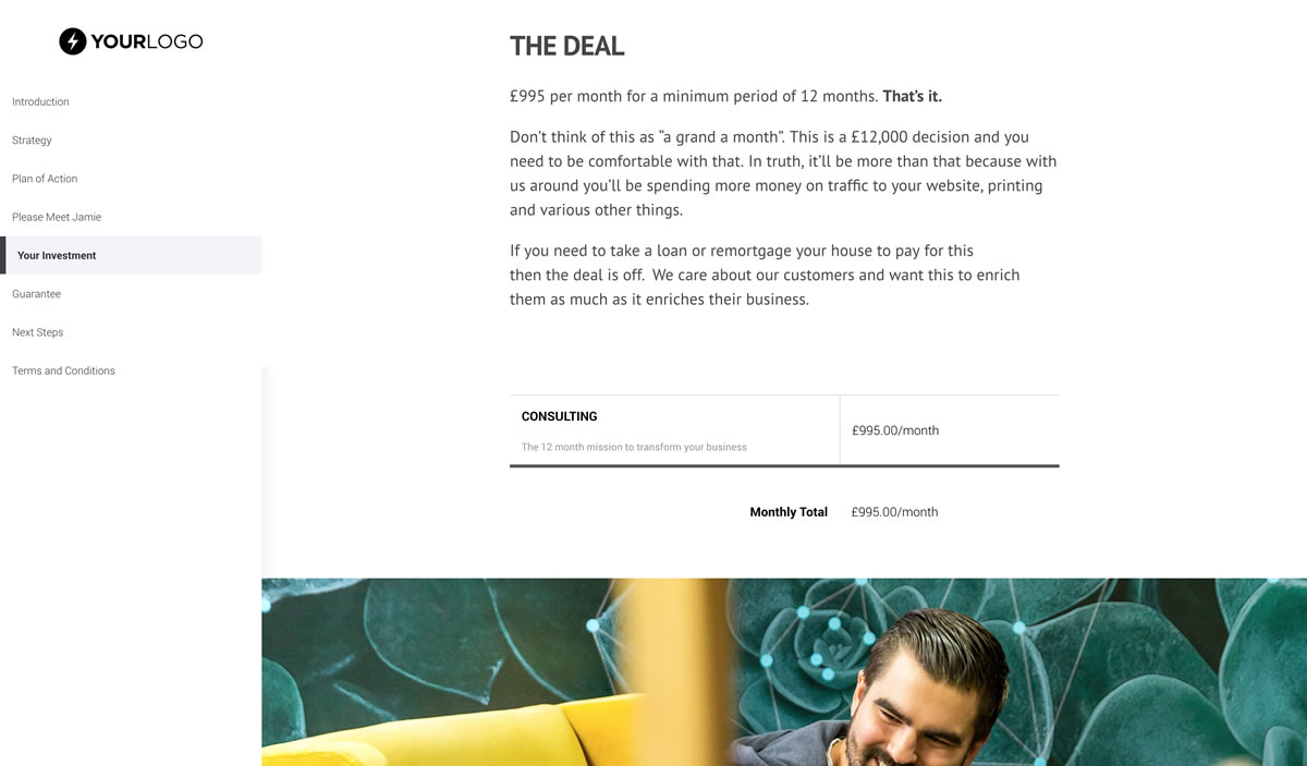 free consulting proposal template better proposals