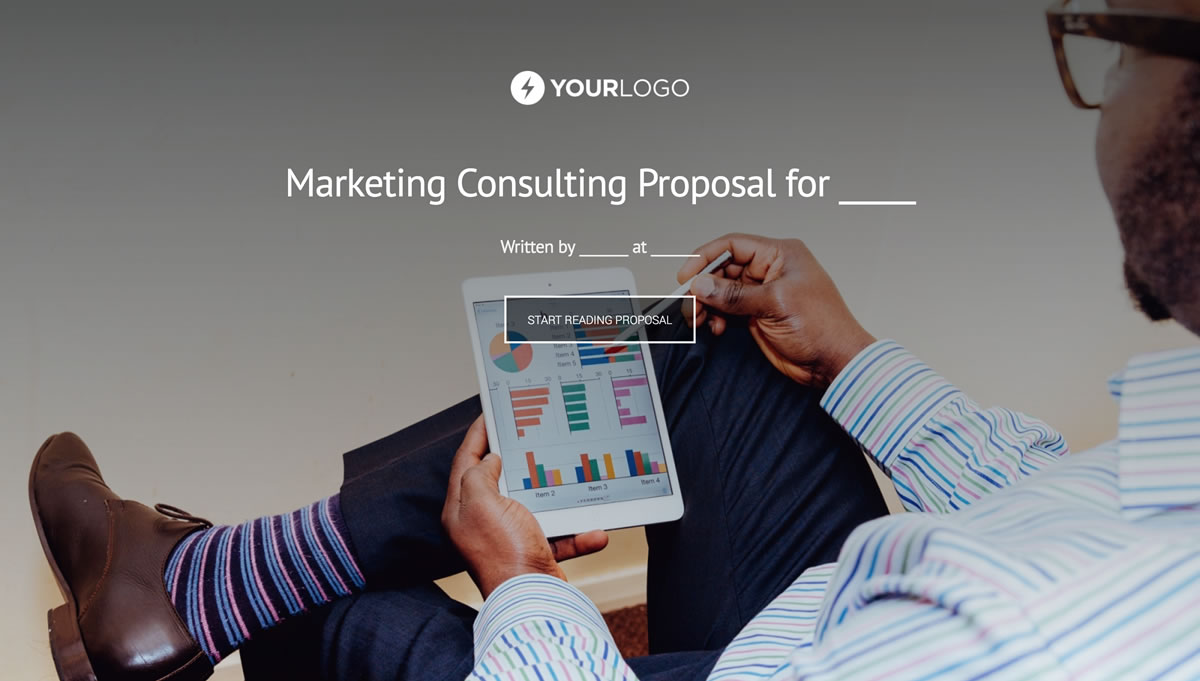 Free marketing consulting proposal template better proposals altavistaventures Image collections