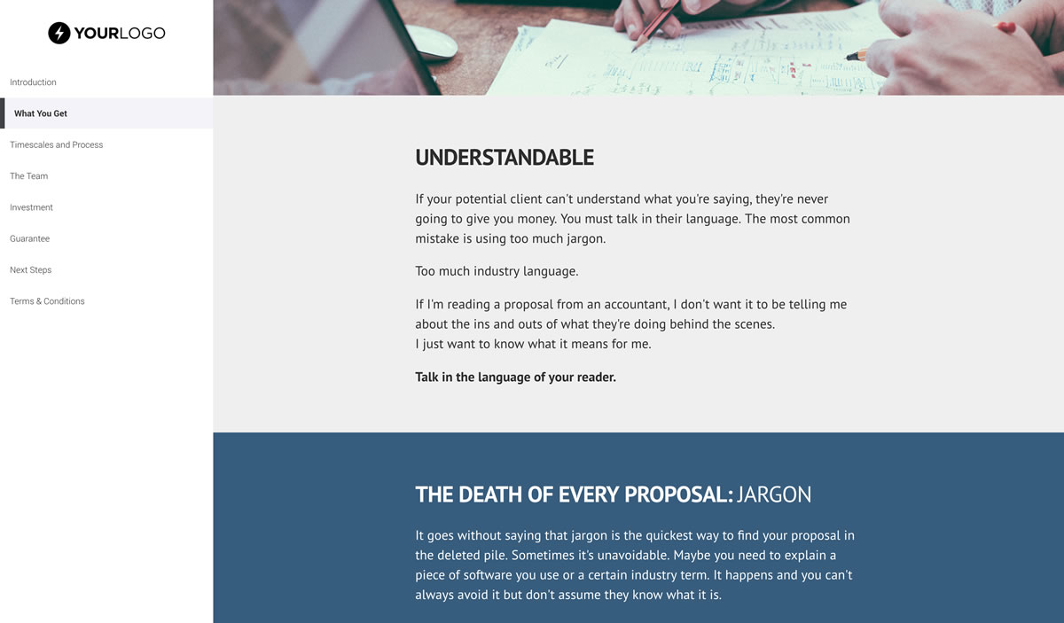 free sales proposal template better proposals