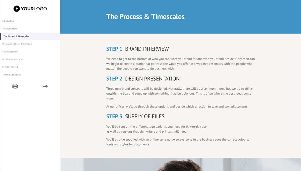 brand design proposal template better proposals