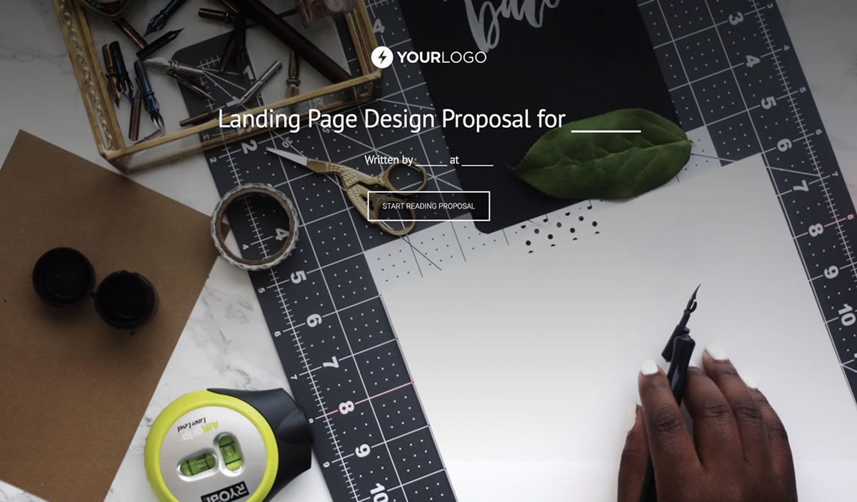 This [Free] Landing Page Design Proposal Template Won $36M of Business