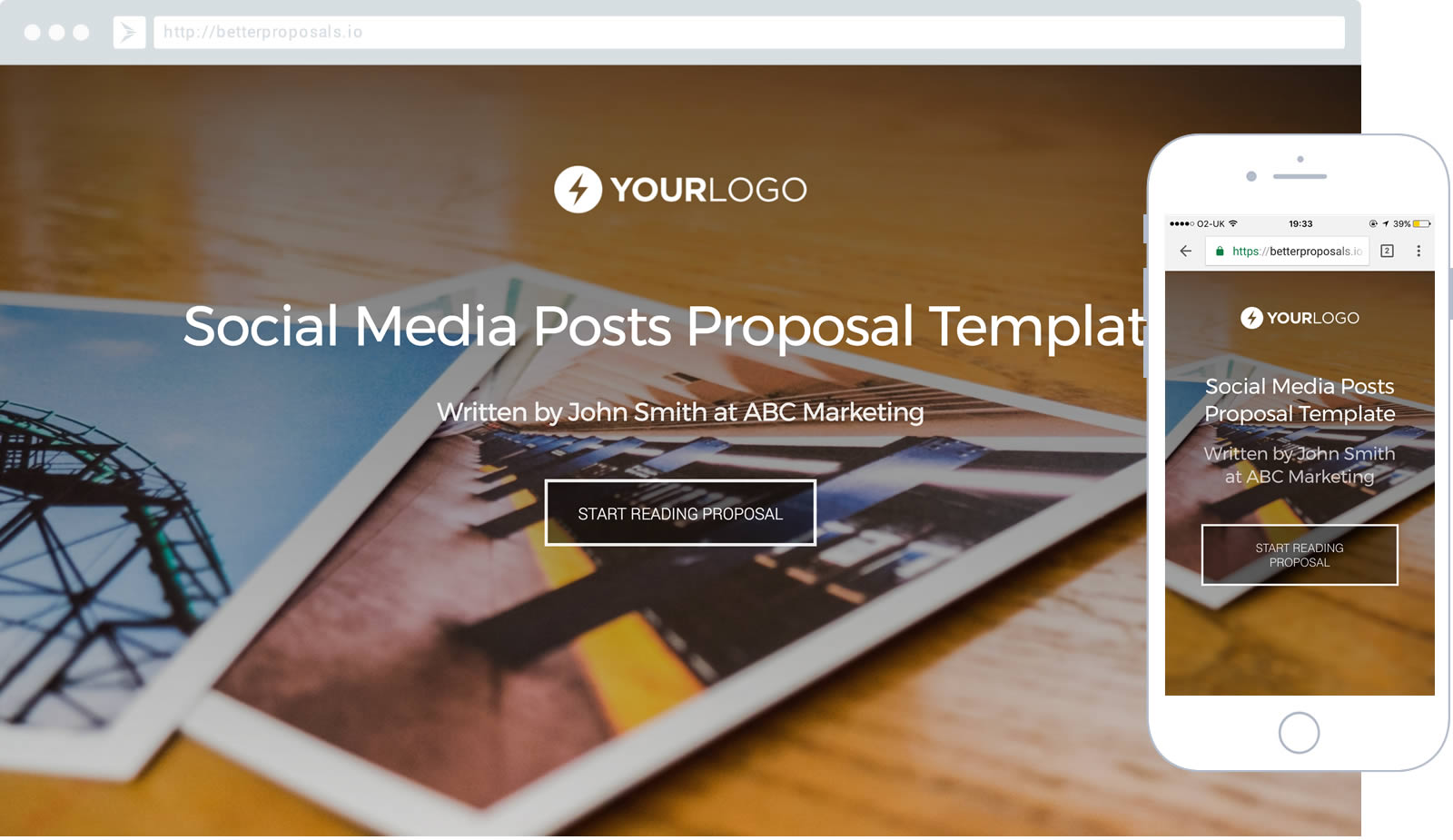 Social Media Posts Proposal Template Proposal template