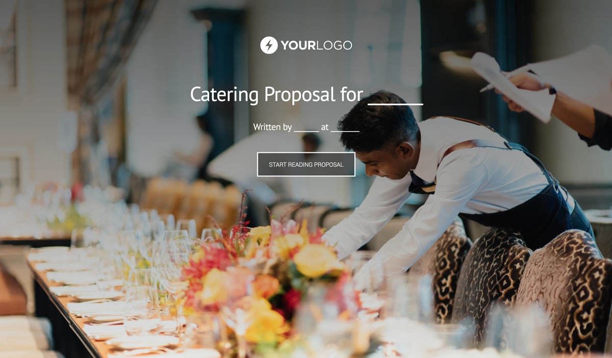 Free catering proposal template better proposals view template accmission Images