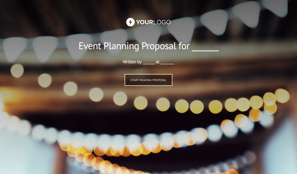 Free Event Planning Proposal Template Better Proposals