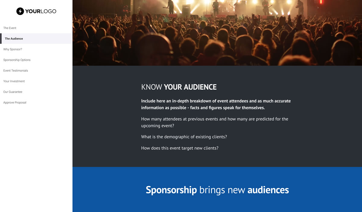 Free Event Sponsorship Proposal Template Better Proposals