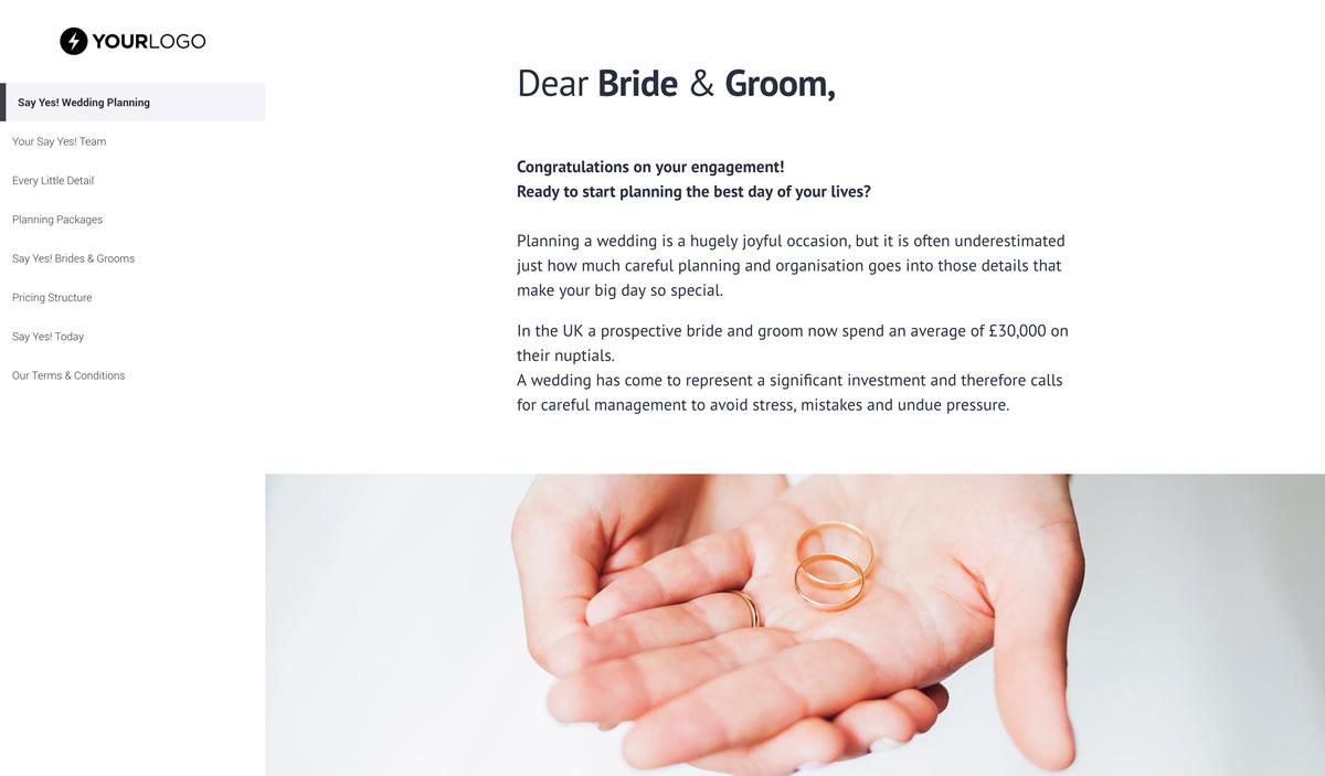 Wedding Planner Proposal Template - Better Proposals