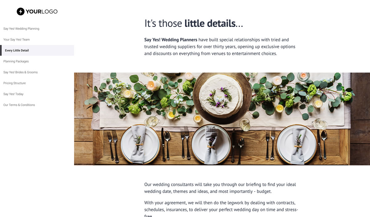 this  free  wedding planner proposal template won  16m of business