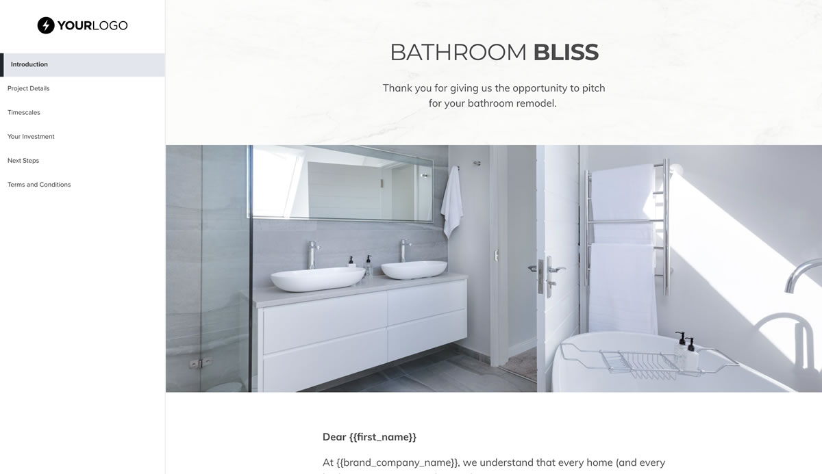 This Free Bathroom Remodel Proposal Template Won 23m Of Business
