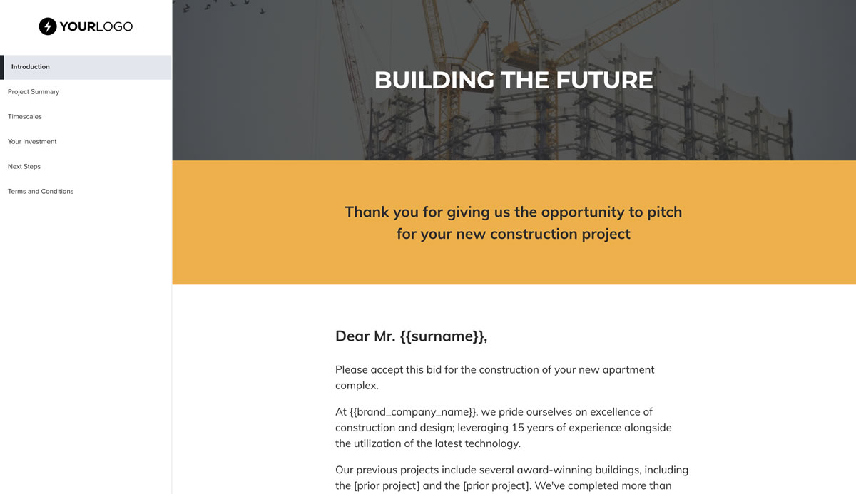 This Free Construction Work Proposal Template Won 23m Of