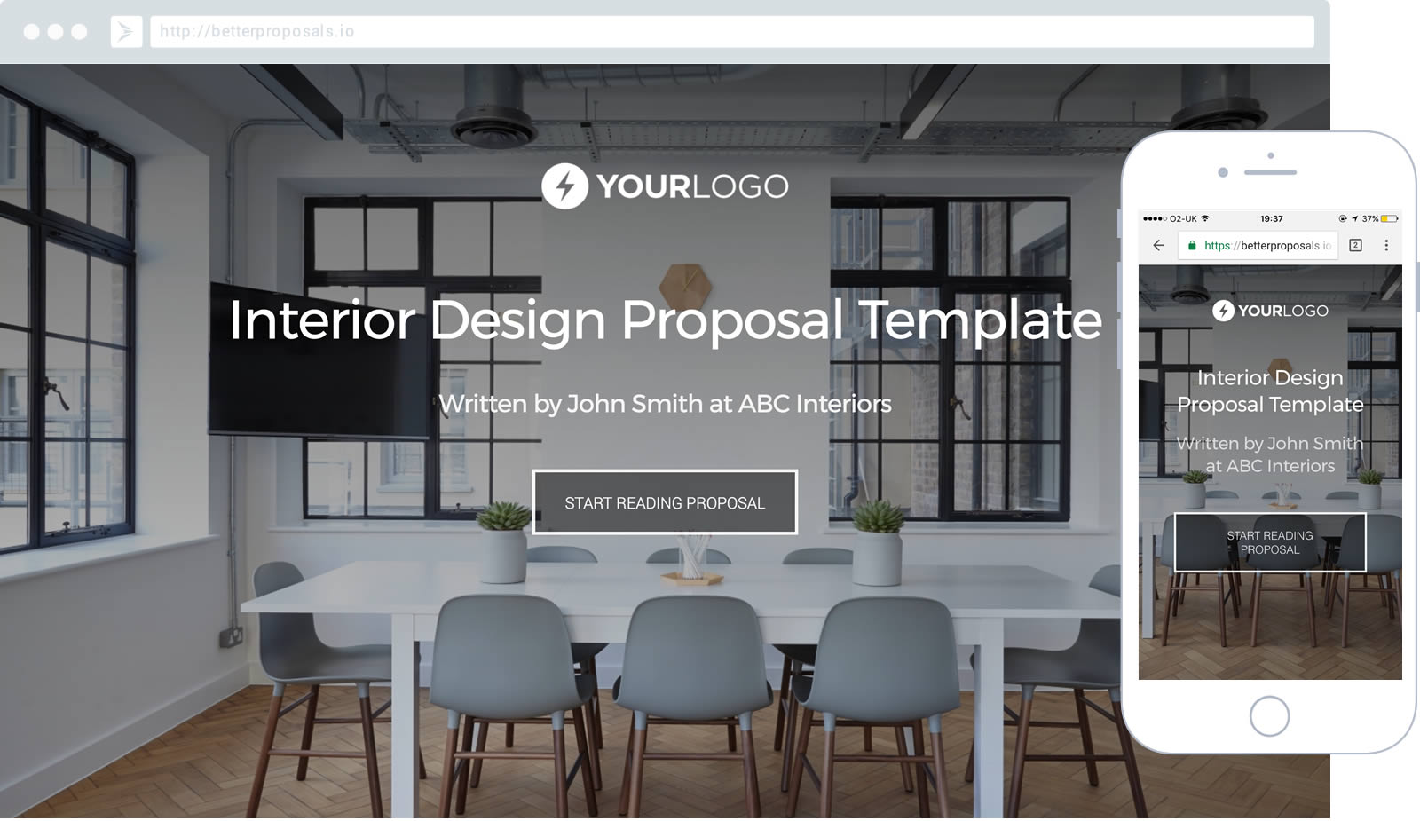 Free interior design proposal template better proposals for Interior design layout templates