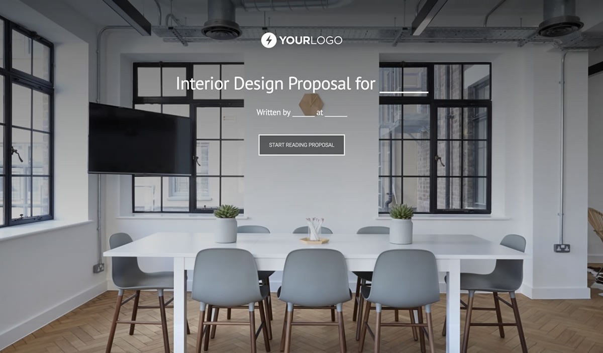 Free interior design proposal template better proposals for Design your office online