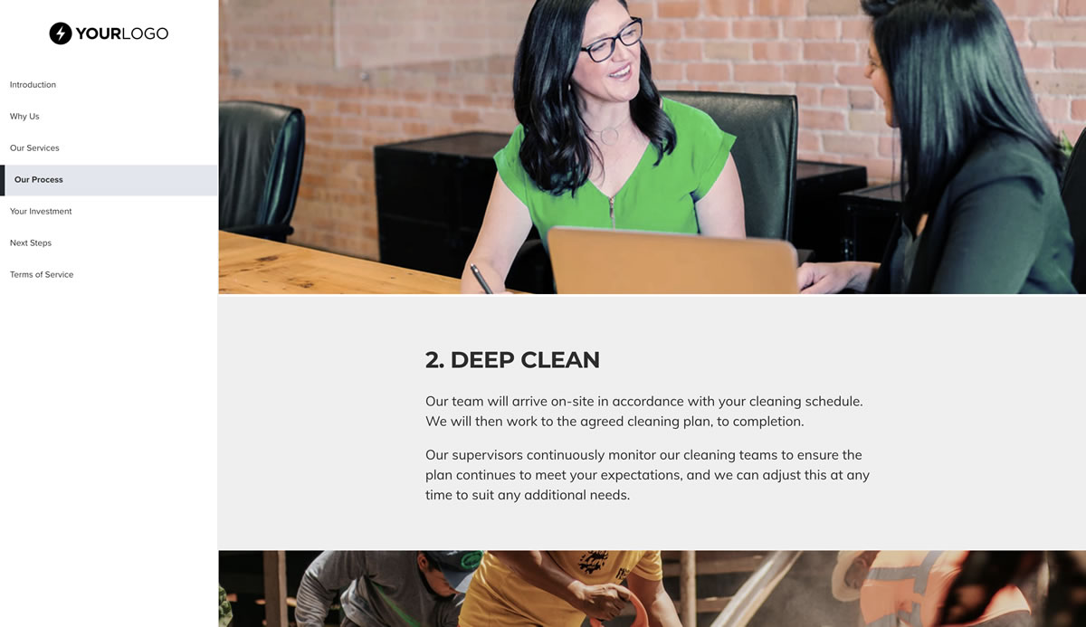 This Free Post Construction Cleaning Proposal Template Won