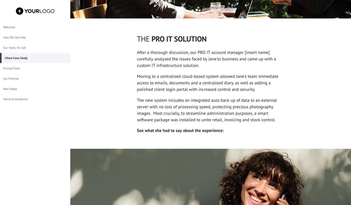 It support services proposal template better proposals view template maxwellsz