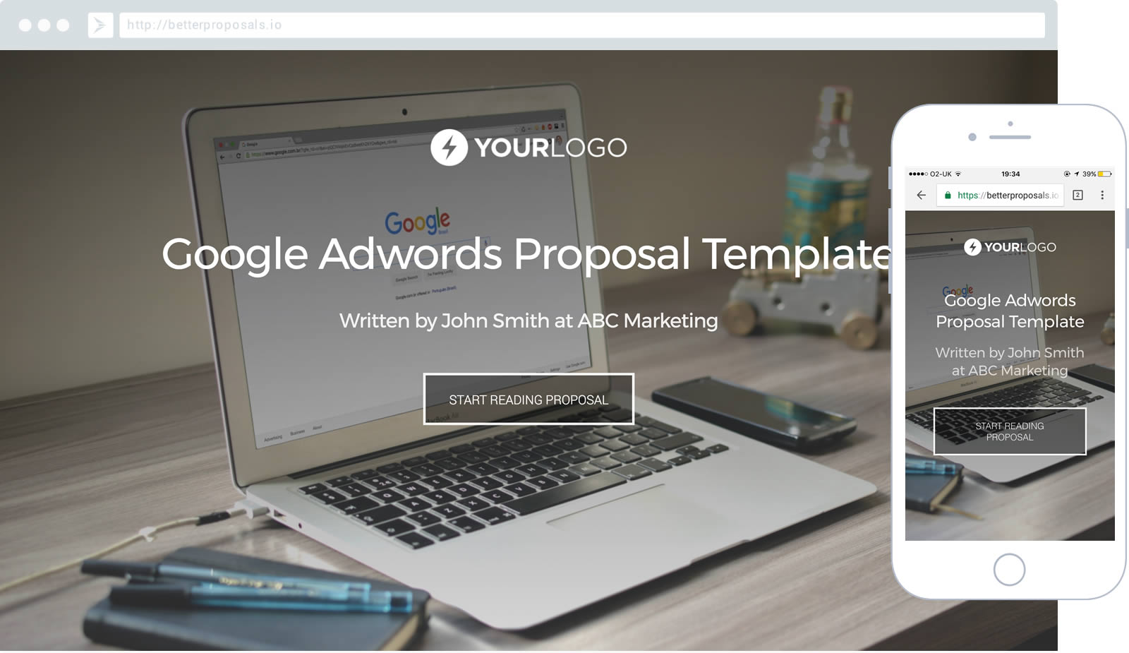 Free Landing Page Design Proposal Template - Better Proposals