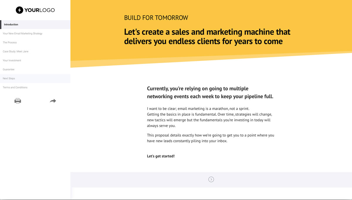 email marketing proposal template proposal template for any company doing email marketing for clients