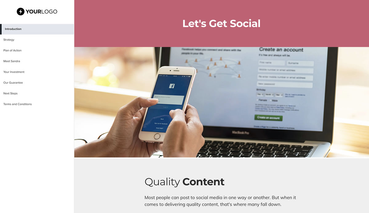 This Free Social Media Management Proposal Template Won 23m Of Business