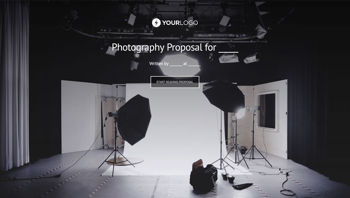 Free Photography Proposal Template Better