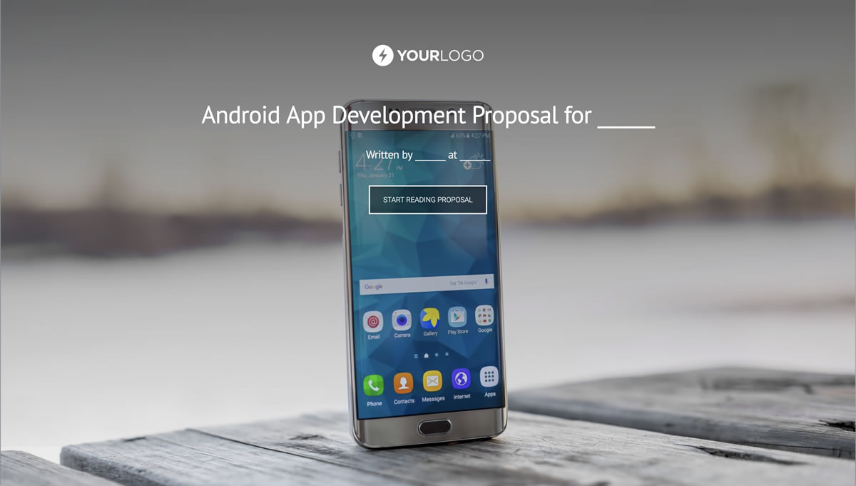 Android Mobile App Development Proposal Template Better Proposals