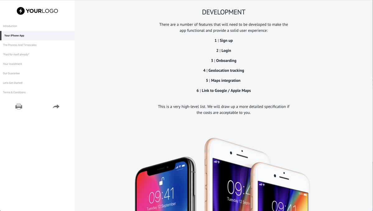 free iphone mobile app development proposal template better proposals