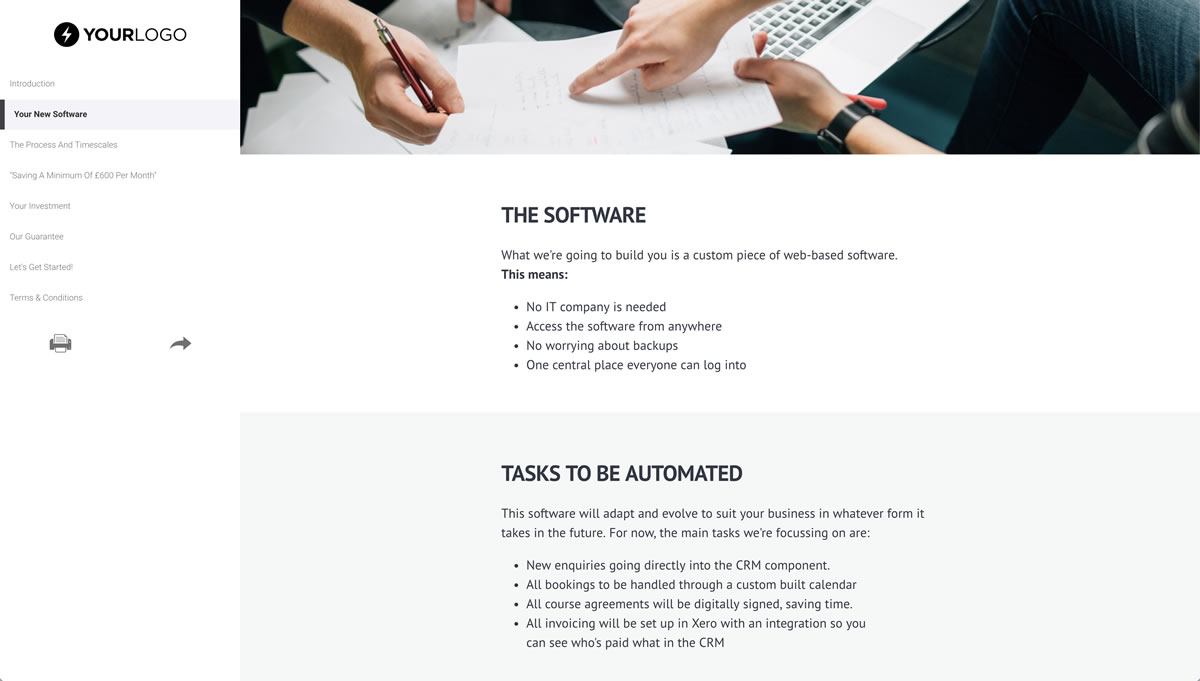 Free software development proposal template better proposals view template cheaphphosting Choice Image