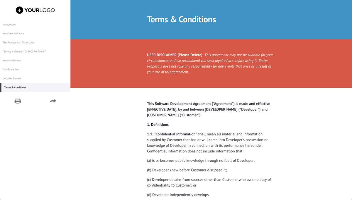 Free Software Development Proposal Template Better Proposals