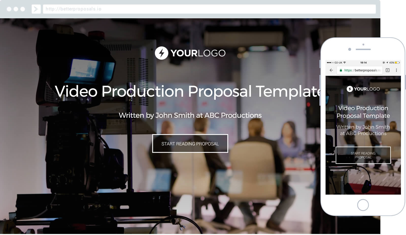 free corporate video production proposal template - better proposals, Powerpoint templates