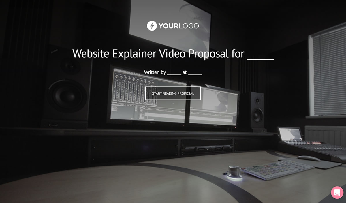 Free Explainer Video Proposal Template Better Proposals