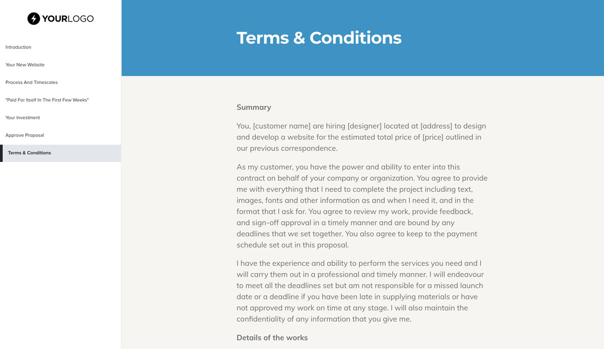 This Free Simple Web Design Proposal Template Won 23m Of Business