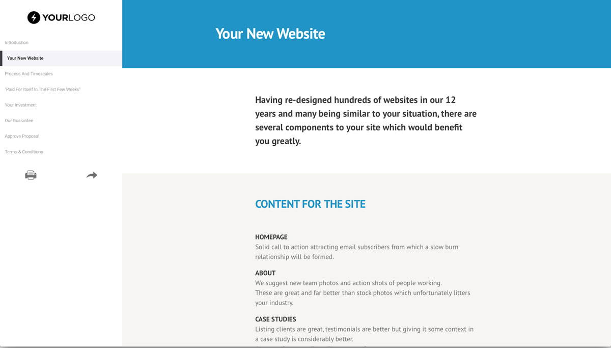 free website design proposal template better proposals