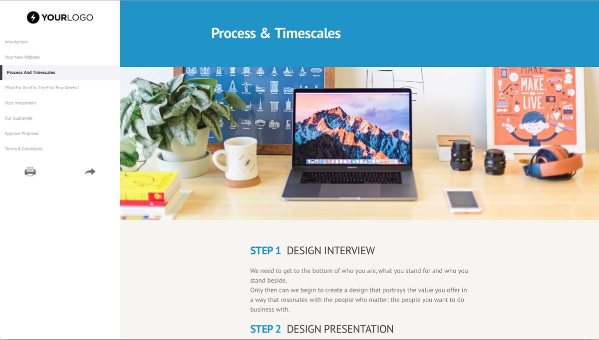 Free website design proposal template better proposals view template cheaphphosting Images