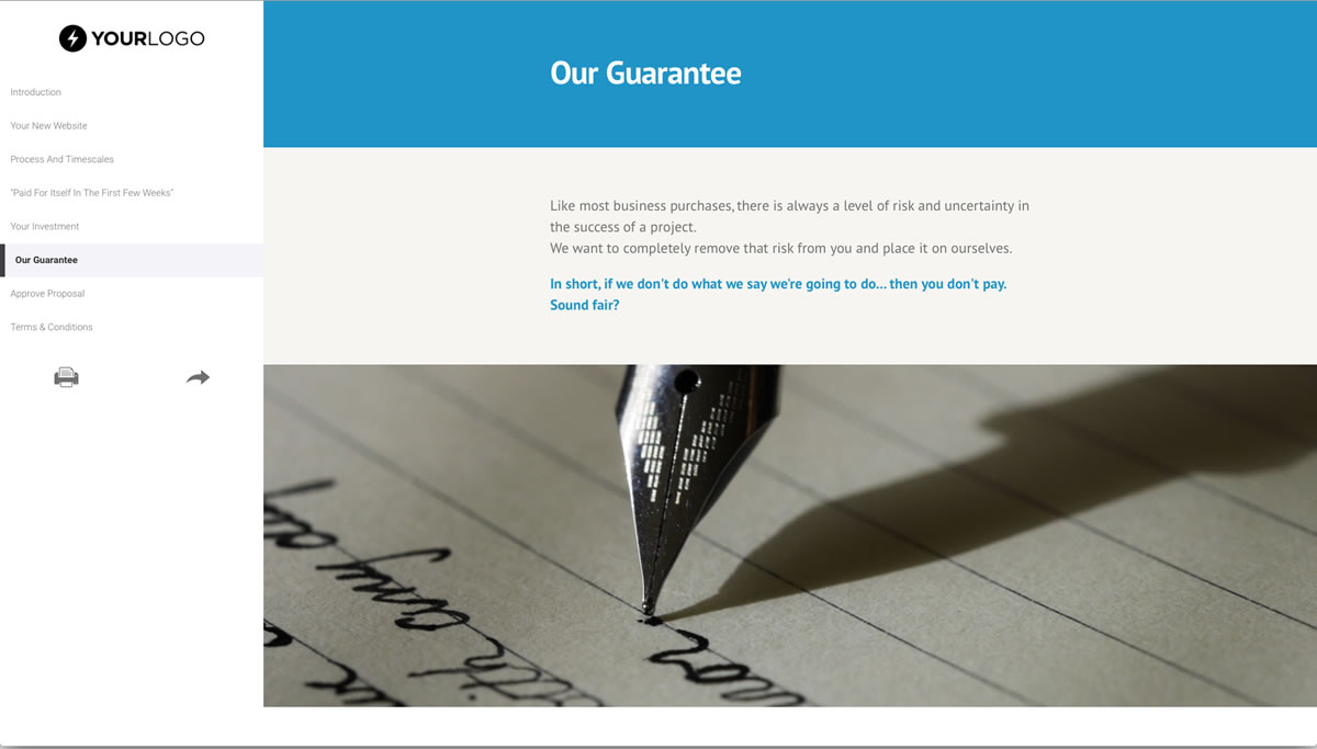 Free Website Design Proposal Template Better Proposals
