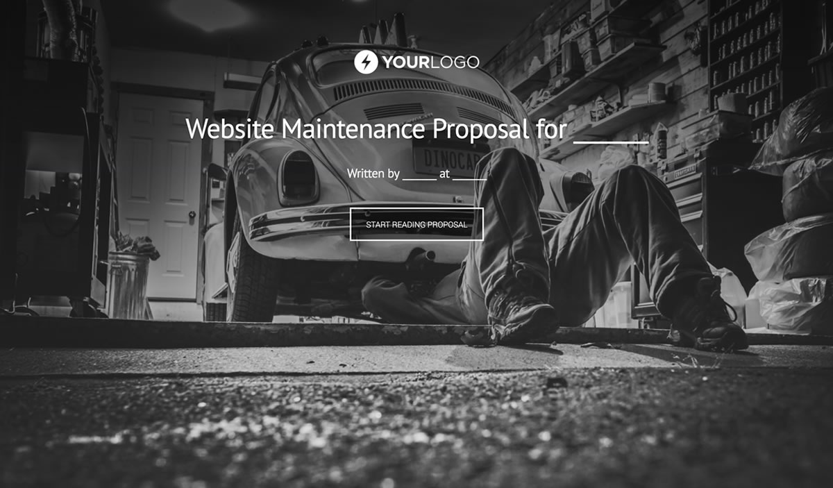 Free Website Support and Maintenance Proposal Template