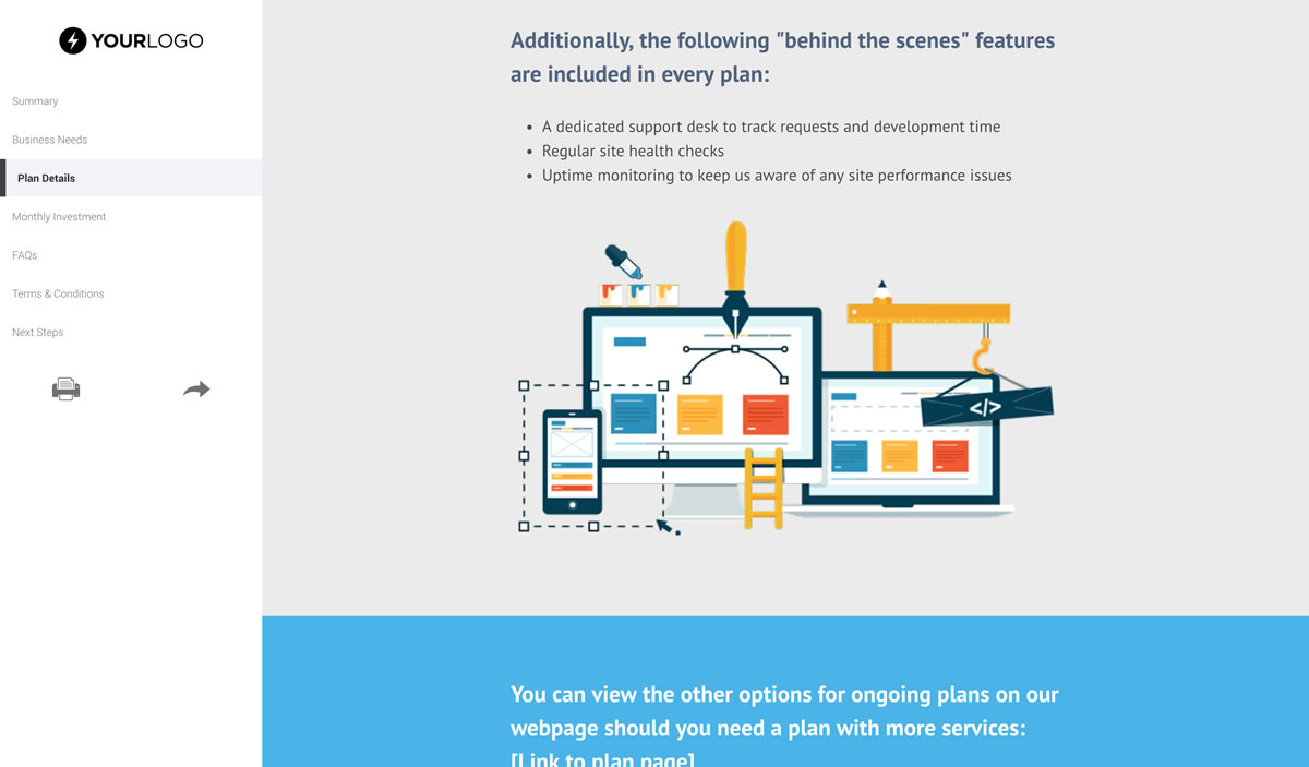 Free Website Support And Maintenance Proposal Template Better
