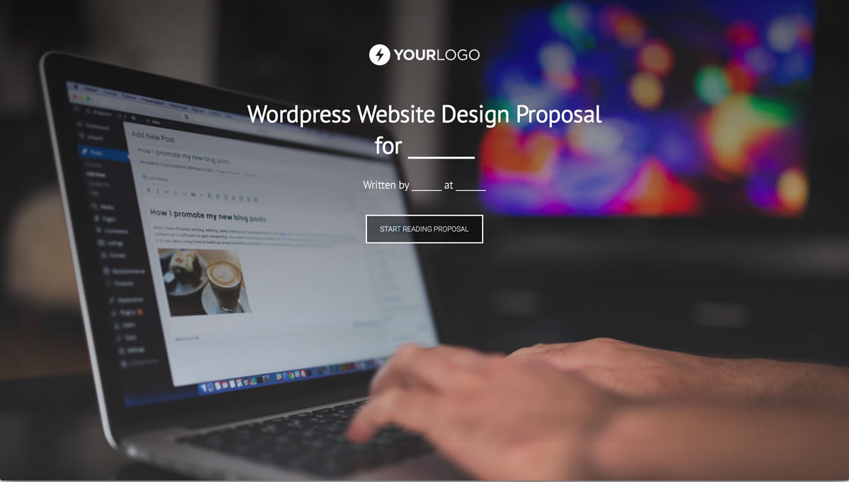 Wordpress Web Design Proposal: Free WordPress Website Design Proposal Template - Better Proposalsrh:betterproposals.io,Design