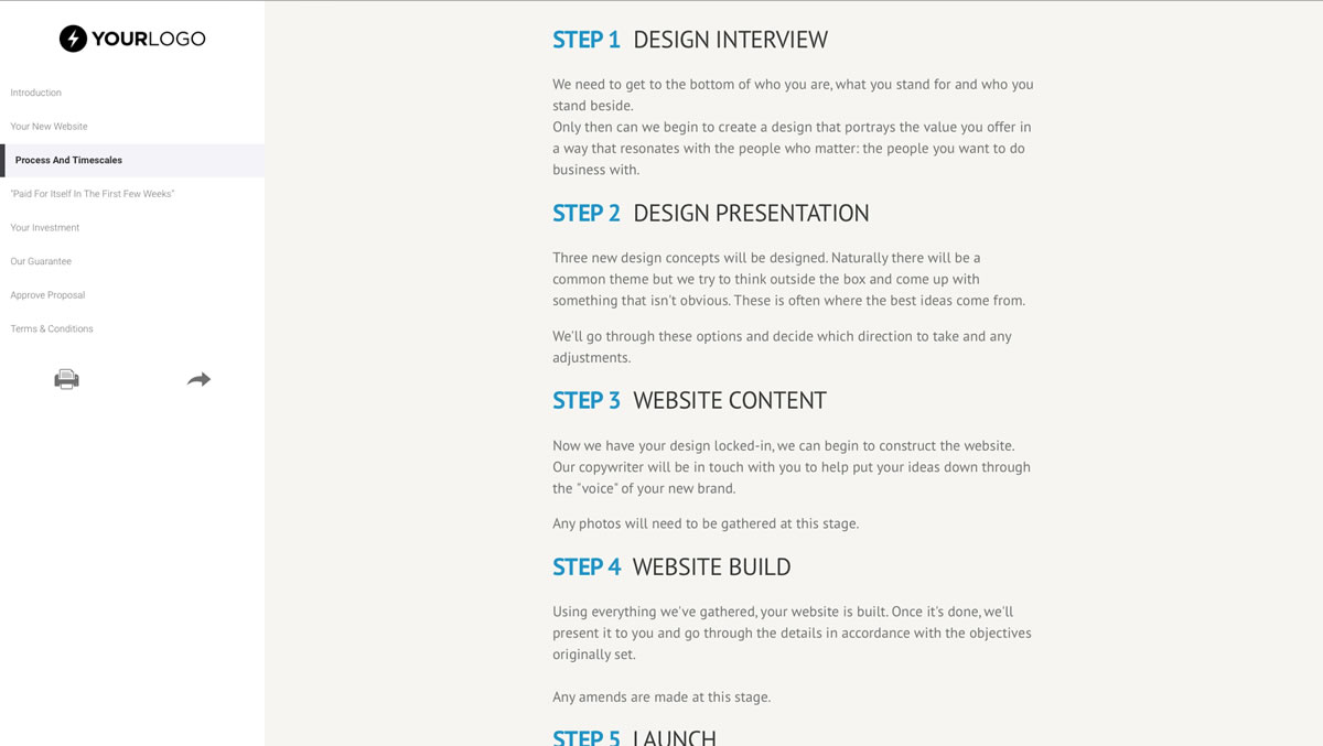 free wordpress website design proposal template better proposals