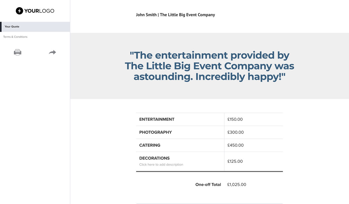 Free Event Planner Quote Template Better Proposals