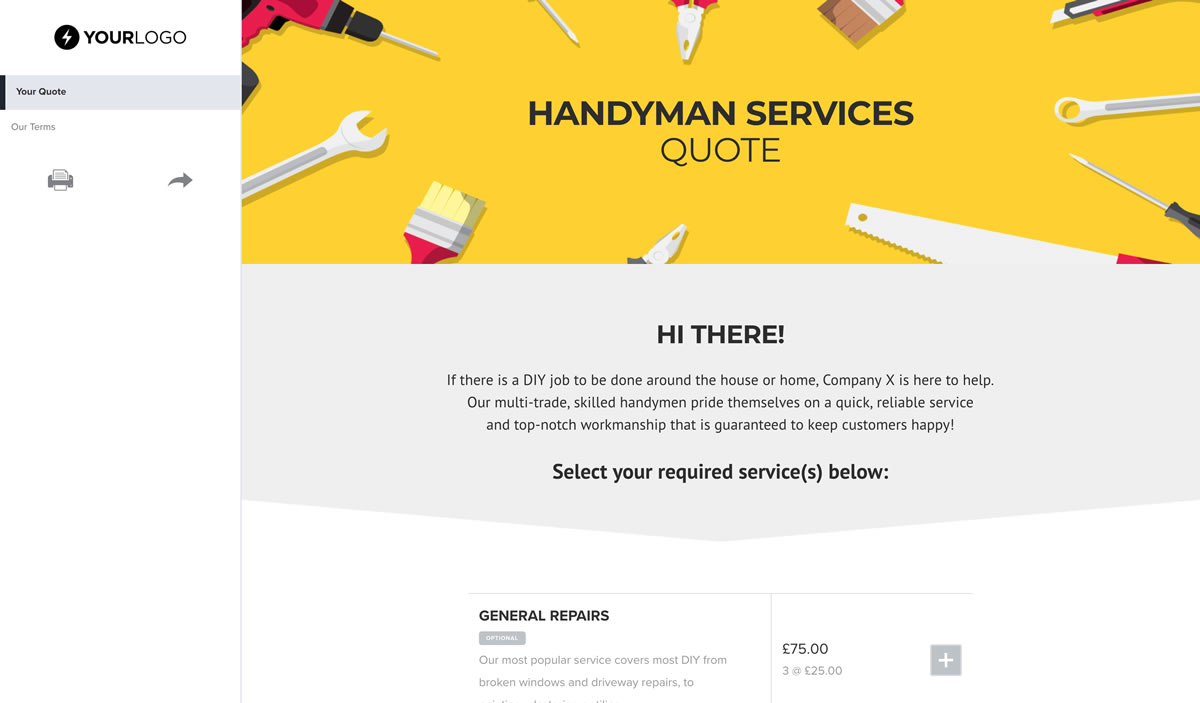 Free Handyman Quote Template Better Proposals - Handyman quote template