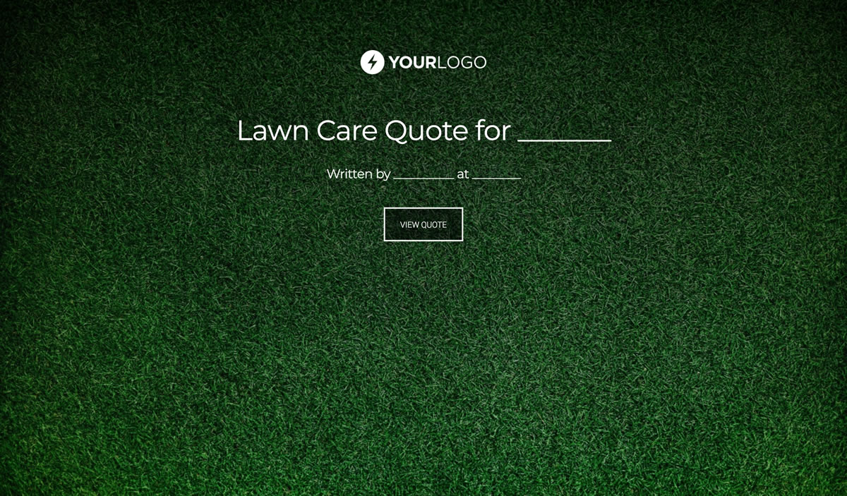 Free Lawn Care Quote Template - Better Proposals