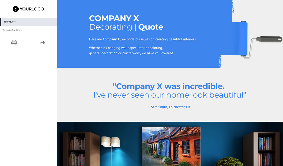 Free Painter and Decorator Quote Template - Better Proposals