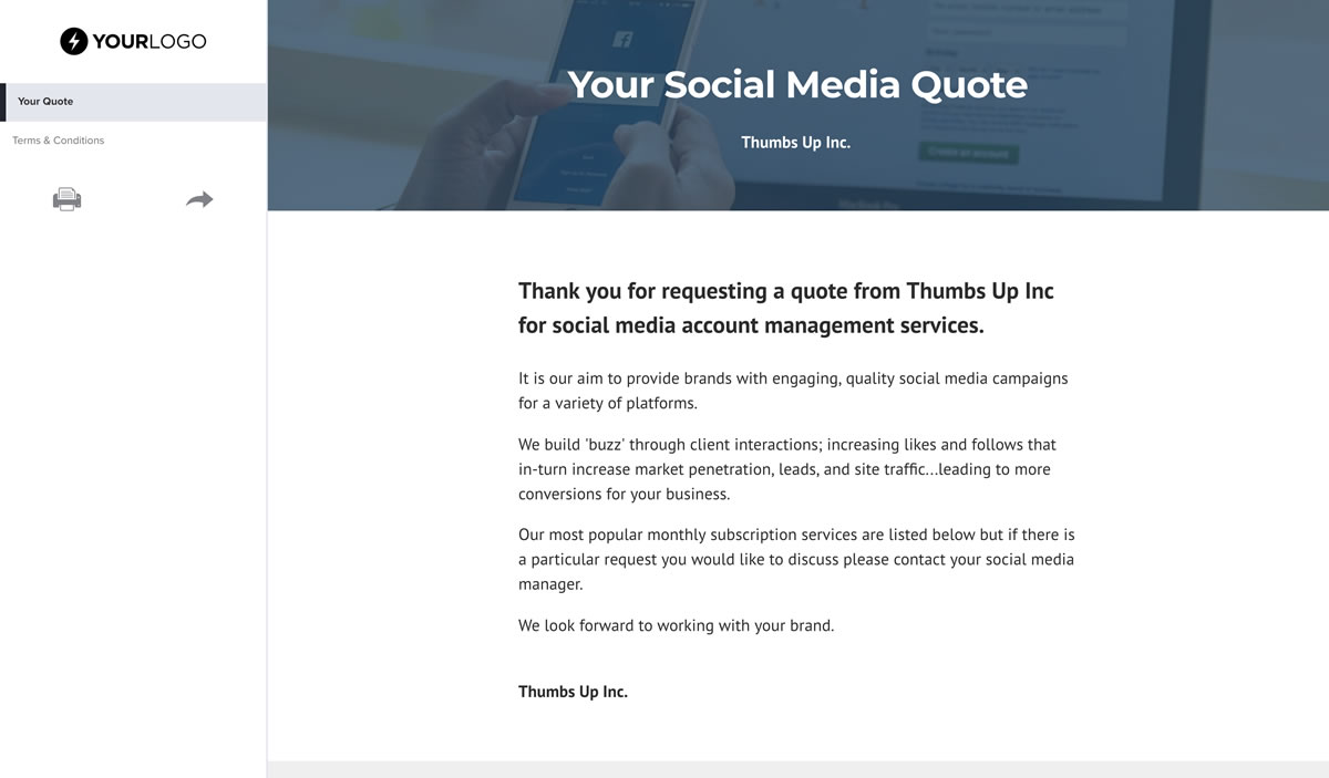 Free Social Media Quote Template